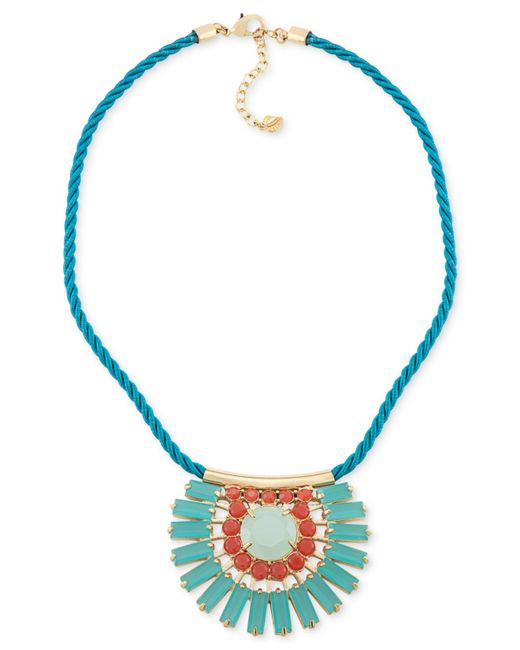 Carolee | Prospect Park Blue Teardrop Pendant Necklace | Lyst