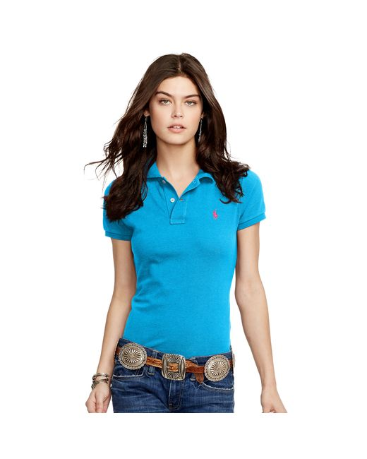 Polo Ralph Lauren | Blue Skinny-fit Polo Shirt | Lyst