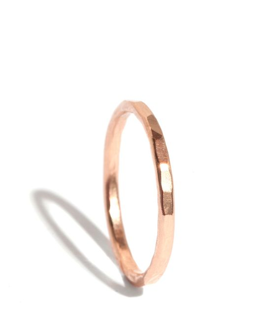Melissa Joy Manning | Pink Hammered Texture 1.5mm Ring | Lyst