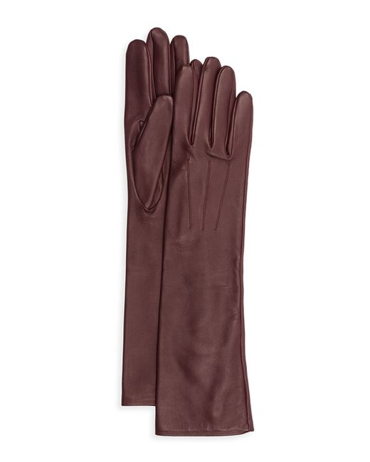 Lanvin | Purple Silk-lined Long Leather Gloves | Lyst