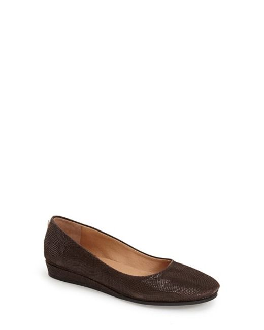 French Sole | Brown Zeppa Leather Wedge Pumps  | Lyst