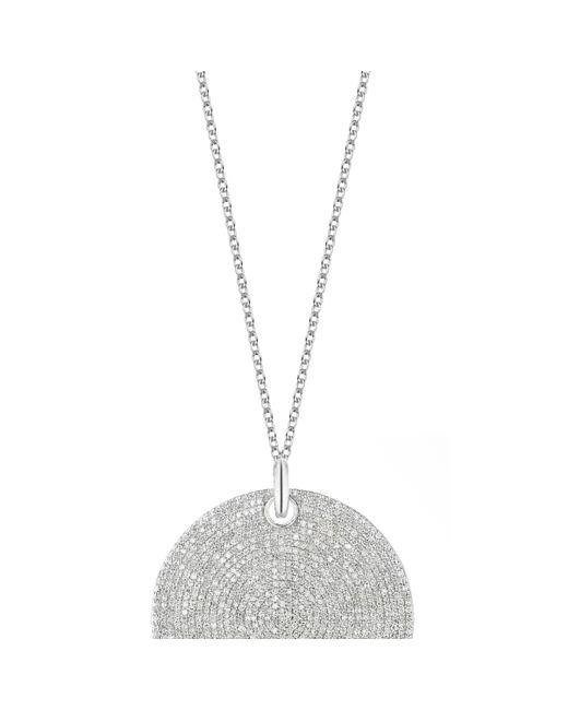 Monica Vinader | Metallic Ava Large Disc Pendant - Diamond | Lyst