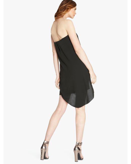 Halston | Black Crepe Dress With Embellishment | Lyst