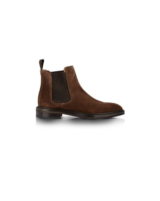 barneys new york s suede chelsea boots in brown for