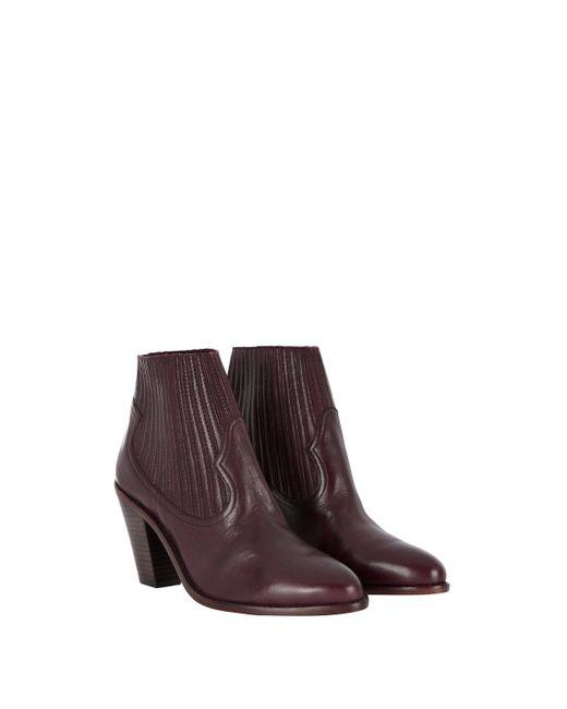 Baukjen | Purple Ash Leather Ilona Ankle Boot | Lyst