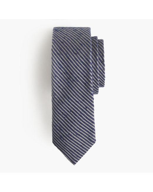 J.Crew | Gray Textured English Silk Tie In Microstripe for Men | Lyst