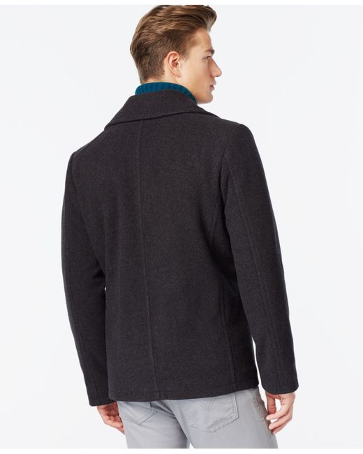 Kenneth Cole | Gray Wool-blend Peacoat for Men | Lyst