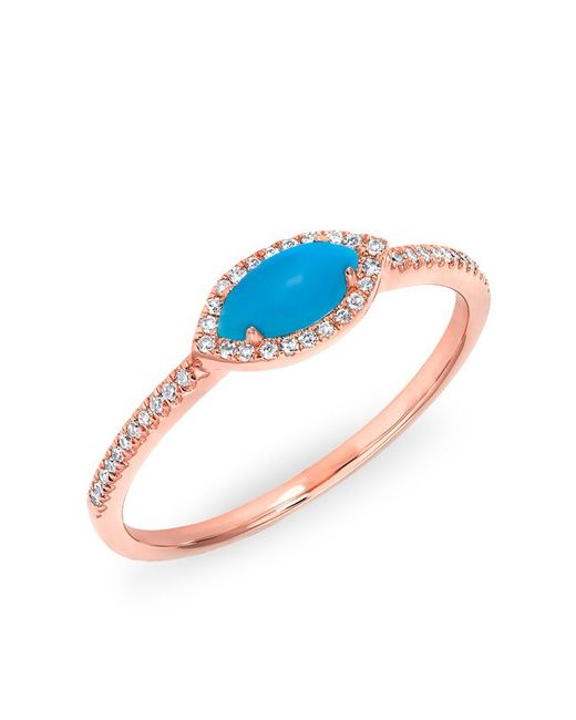 Anne Sisteron | Multicolor 14kt White Gold Diamond Turquoise Mini Marquis Ring | Lyst