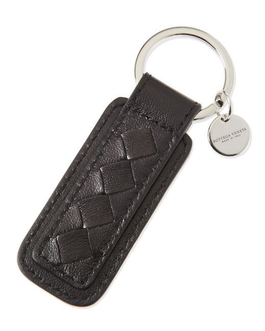 Bottega Veneta | Brown Intrecciato Key Chain for Men | Lyst