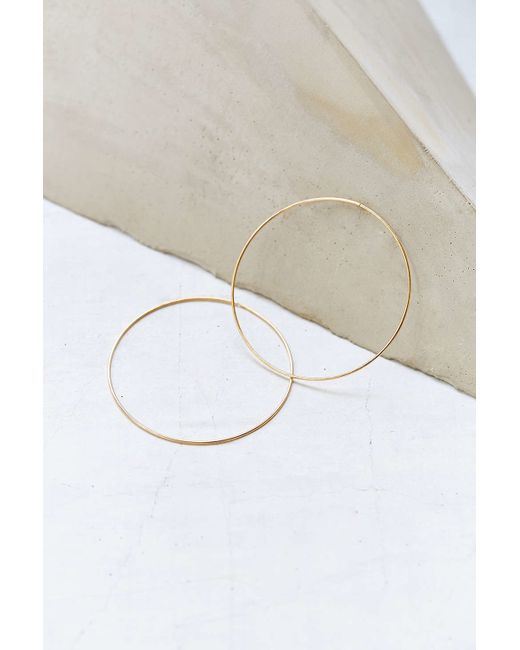 Urban Outfitters | Metallic Sterling Silver + 18k Gold Plated Daryl Hoop Earring | Lyst