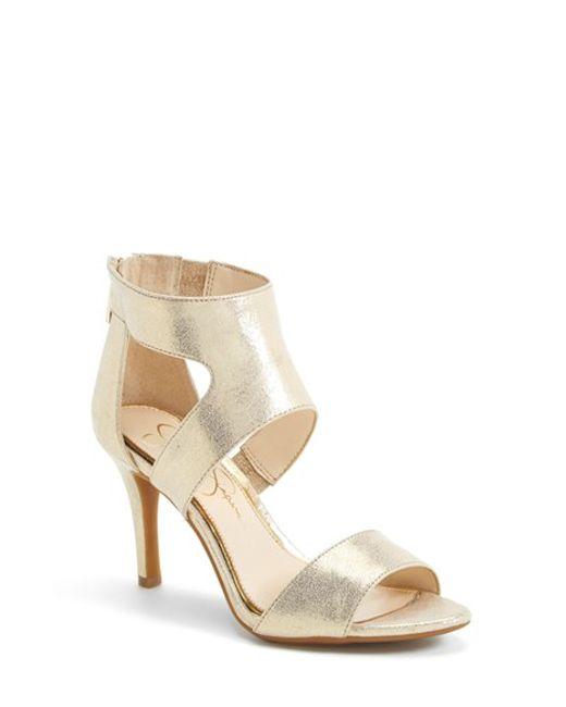 Jessica Simpson | Metallic Mekos Cut-Out Sandals | Lyst