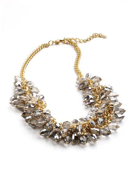 ABS By Allen Schwartz | Metallic Beaded Cluster Link Necklace | Lyst