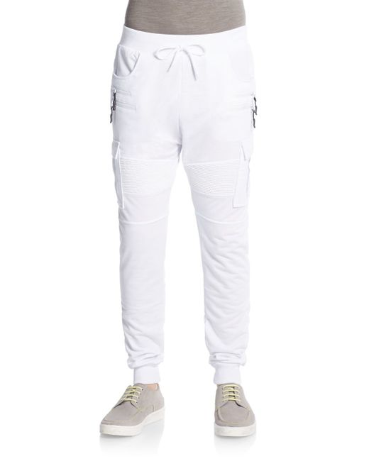 American Stitch Cargo Jogger Pants In White For Men Save