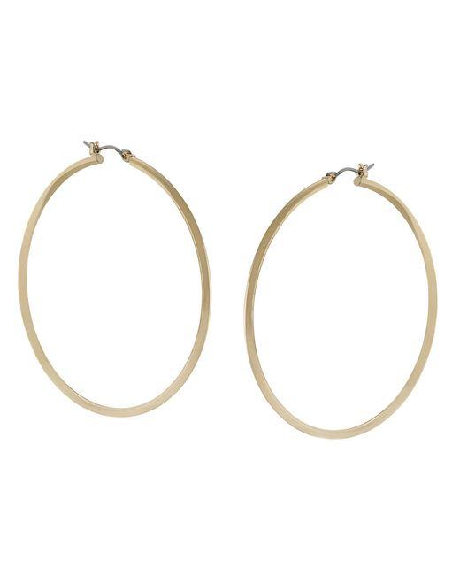 by ralph thin goldtone circle hoop earrings