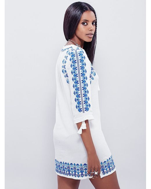 Free People | Blue Yours Truly Dress | Lyst