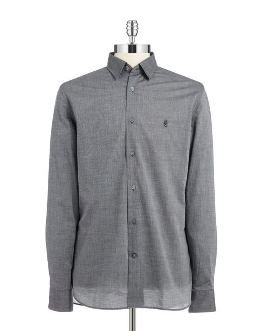 John Varvatos   Gray Textured Sportshirt for Men   Lyst