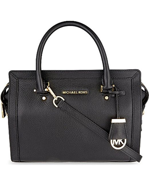 MICHAEL Michael Kors | Black Collins Medium Soft Leather Tote | Lyst