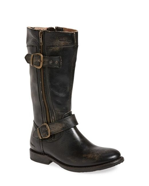 bed stu gogo boot in black black washed leather lyst
