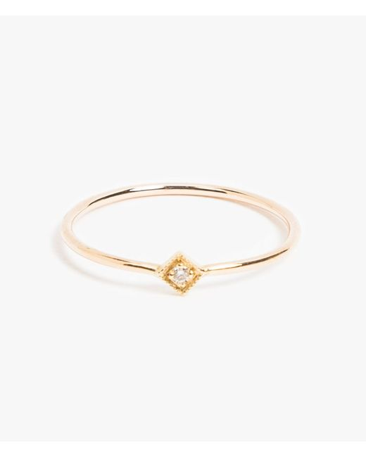 Jennie Kwon | Metallic Diamond Mini Square Ring | Lyst