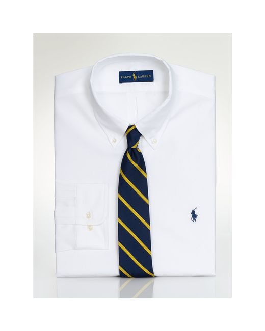 Polo Ralph Lauren | White Pinpoint Oxford Dress Shirt for Men | Lyst