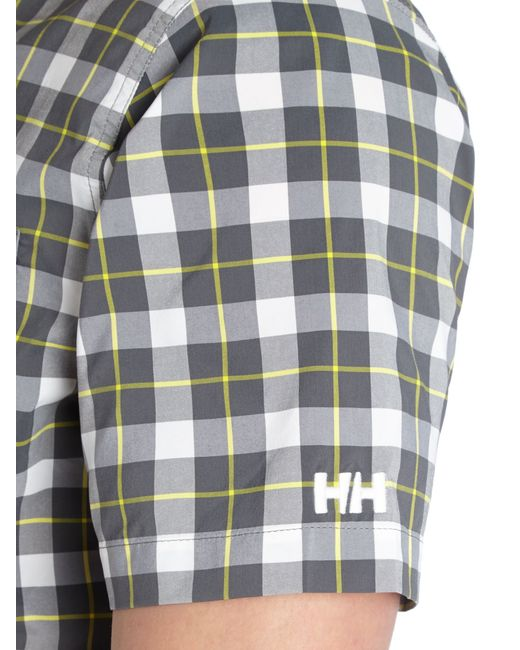 Helly Hansen | Black Jotun Nordic Check Short Sleeve Shirt for Men | Lyst