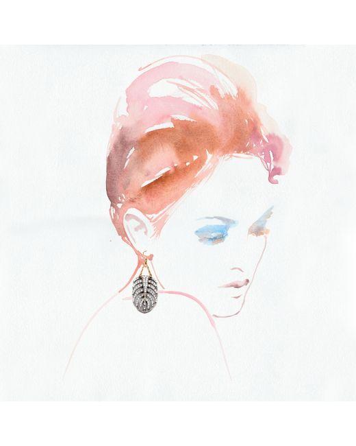 Lulu Frost | Metallic Silvertone Drift Earring - Large | Lyst