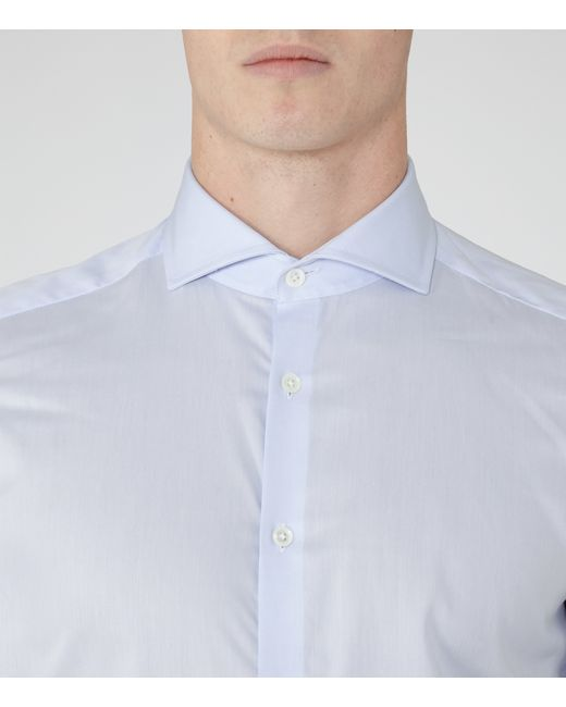 Reiss Angelo Cutaway Collar Shirt In Blue For Men Save