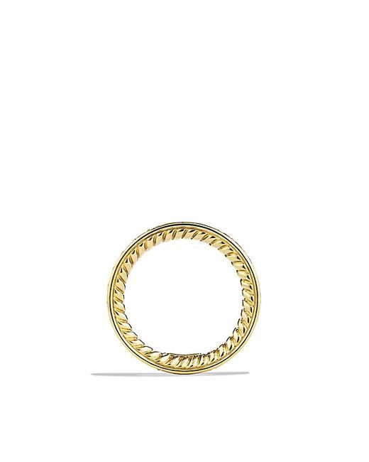 David Yurman | Metallic Eternity Wedding Band With Diamonds In Gold | Lyst
