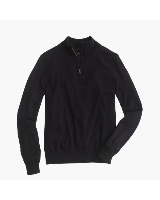 J.Crew | Blue Slim Merino Wool Half-zip Sweater for Men | Lyst
