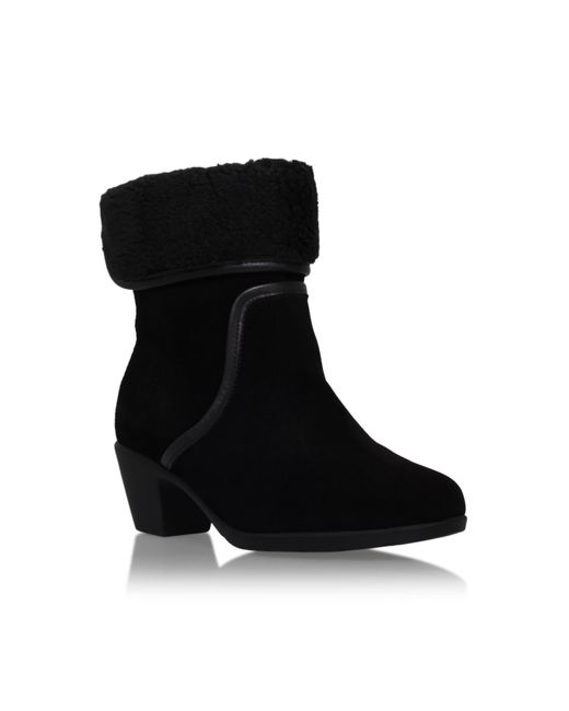 Carvela Kurt Geiger | Black Robin Boots With Ankle Cuff | Lyst