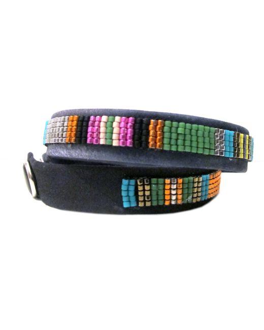 Jill Golden | Multicolor Striped Leather Wrap | Lyst