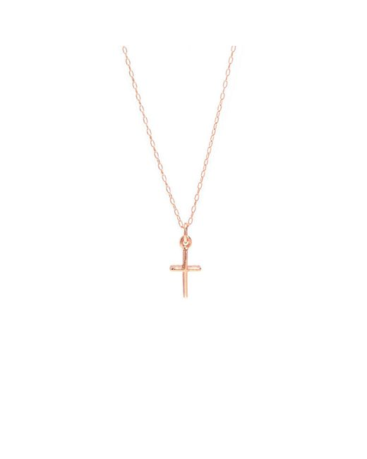 Bing Bang | Pink Skinny Cross Necklace | Lyst