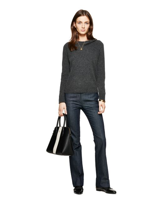 Kate Spade | Gray Tab Bow Sweater | Lyst