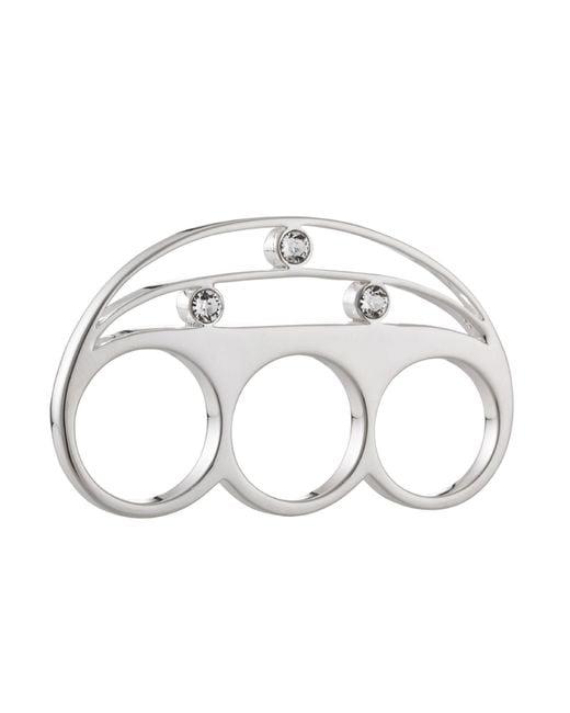 Yael Salomon | Metallic Stelle 01 Three Finger Silver Ring | Lyst