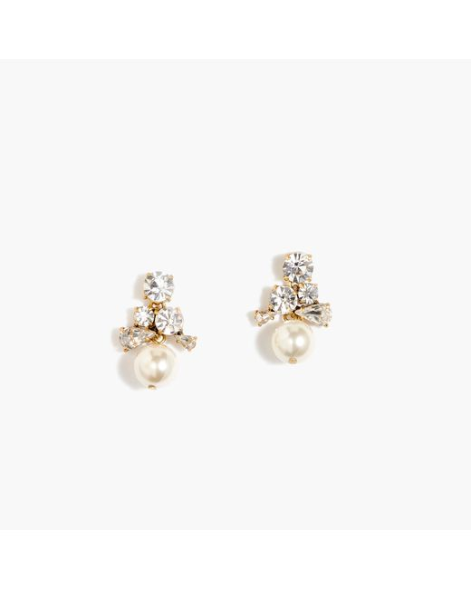 J.Crew | Metallic Pearl Cluster Earrings | Lyst