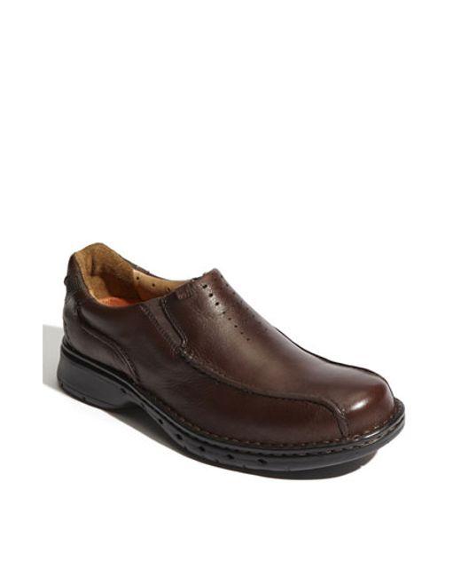 Clarks | Brown Clarks 'un. Seal' Slip-on for Men | Lyst