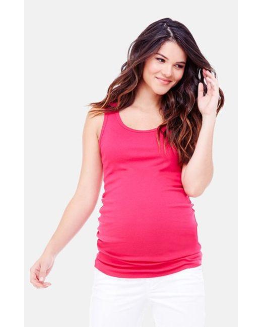 Ingrid & Isabel | Pink Ingrid & Isabel Scoop Neck Maternity Tank | Lyst