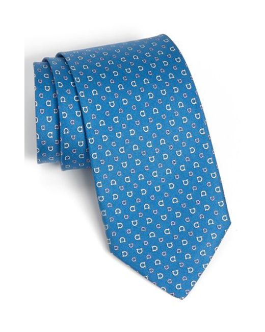 Ferragamo | Blue Bumblebee Printed Silk Petalo Tie for Men | Lyst