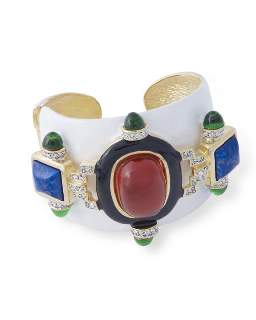 Kenneth Jay Lane | White And Ruby Cuff | Lyst