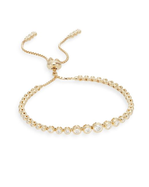 Saks Fifth Avenue | Metallic 1.0 Tcw Diamond & 14k Yellow Gold Bracelet | Lyst