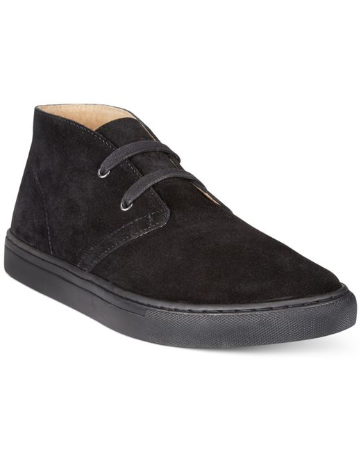 polo ralph joplin chukka boots in black for