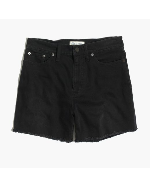 Madewell   High-rise Denim Shorts In Washed Black   Lyst