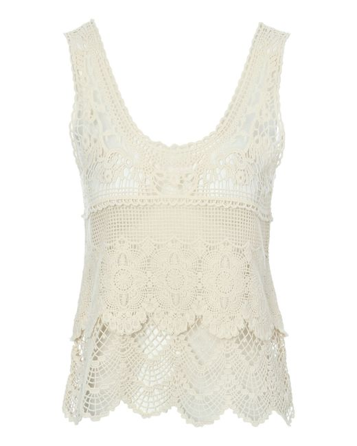 Jane Norman | Natural Crochet Vest | Lyst