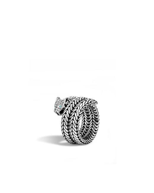 John Hardy | Metallic Macan Coil Ring With Diamonds | Lyst
