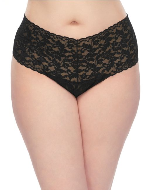 Hanky Panky | Black Plus Size Retro Lace V-kini Thong | Lyst