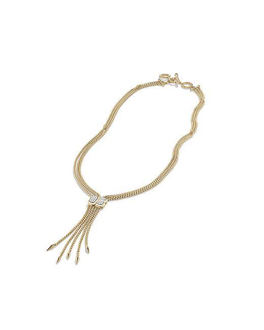David Yurman   Metallic Confetti Drop Necklace With Diamonds In Gold   Lyst