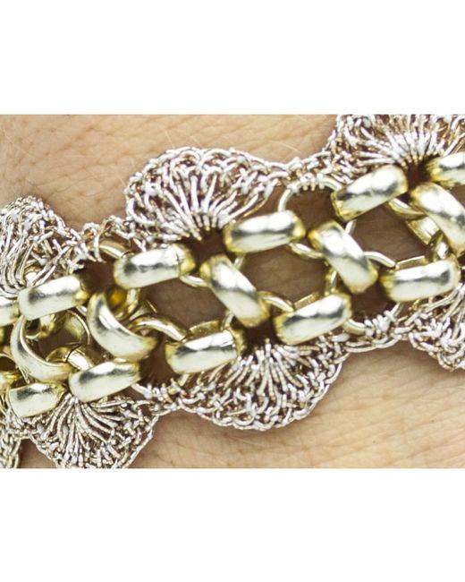 St Erasmus | Pink Blush Crochet Scallop Bracelet | Lyst