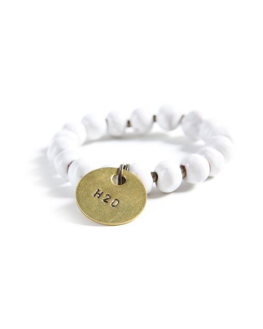 Michael Stars | White 10mm Simbi Bracelet | Lyst
