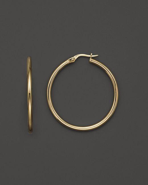 Roberto Coin | Metallic 18k Yellow Gold Hoop Earrings | Lyst