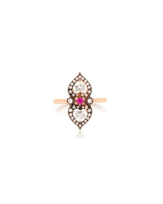 Sabine G | Metallic 18 K Rose Old Heart To Heart Ring | Lyst